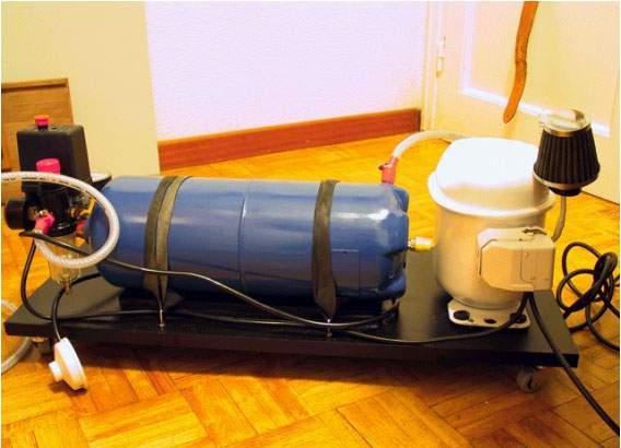 compresor de aire casero. el compresor deberá constar de: de aire casero